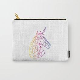 Geometric Unicorn Carry-All Pouch