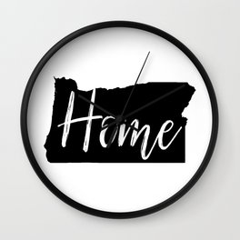 Oregon-Home Wall Clock
