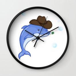 Lucky Dolphin Wall Clock
