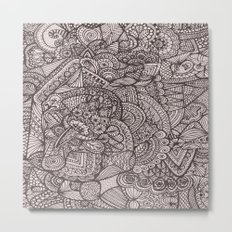 Doodle 8 Metal Print
