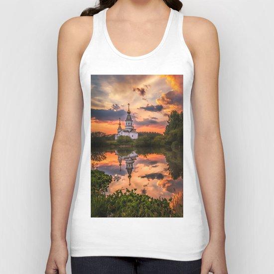 Summer sunset Unisex Tank Top