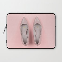 Pair of classic women's beige shoes with pushpin Laptop Sleeve