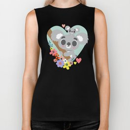 Koala Bear Love / Cute Animal Biker Tank