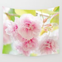 sakura Wall Tapestries featuring sakura by yumehana design fine art photography