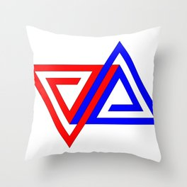 Halimessa - connected triangles Throw Pillow