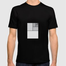 Fibonacci Blocks Mens Fitted Tee SMALL Black