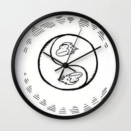 YinYang Apes Wall Clock