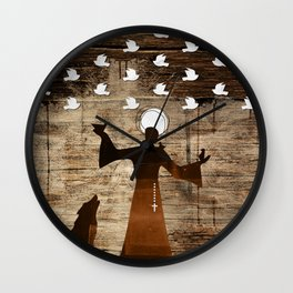 Saint Francis of Assisi Wall Clock