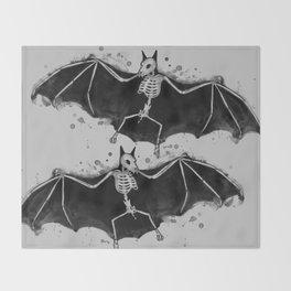 Skeletal Bat Throw Blanket