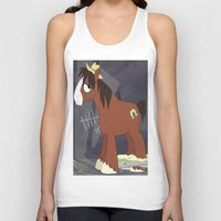 mlp Tank Tops featuring MLP TROUBLESHOES CLYDE by Kalisourusrex