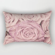 Some people grumble - Pink rose pattern- roses Rectangular Pillow