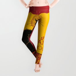 Le Chat D'Amour with Theatrical Curtain Border Leggings