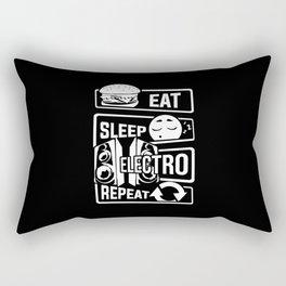 Eat Sleep Electro Repeat - Party Festival Music Rectangular Pillow
