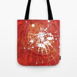 white splash on red Tote Bag