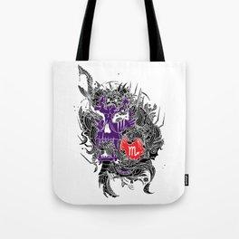 Scorpio Skull Zodiac Sign For October and November Birth Day Gift Tote Bag