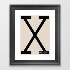 X-Height Framed Art Print