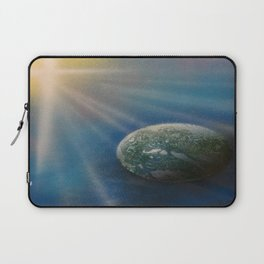 Sun Cross Earth Space Spray Paint Laptop Sleeve