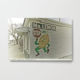 Providence Postcard Project: Mr. Lemon, Wanskuck Metal Print