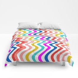 Stripe rainbow Swirl Comforters