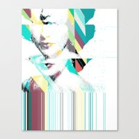 jenny liz rome Canvas Prints featuring Liz by Northern Soul Art & Design (Jonny Trash)