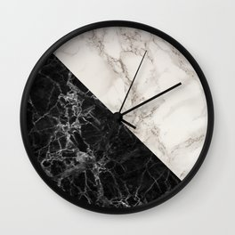 Black and white marble decor Wall Clock