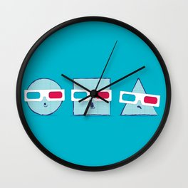 3D Shapes Wall Clock