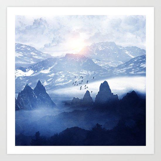 Winter. Melody... Art Print