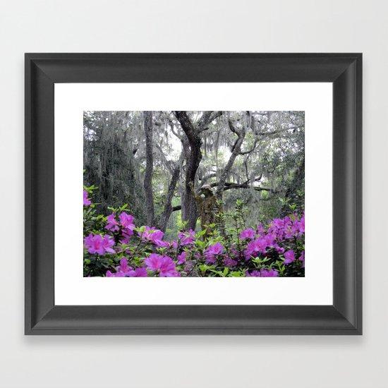 Azalea Hideaway Framed Art Print