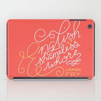 shameless iPad Cases featuring English is a Shameless Whore, Stephen Fry by A Rose Cast