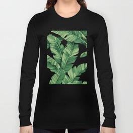 Tropical banana leaves Long Sleeve T-shirt