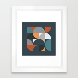 Mid Century Geometric 11/2 Framed Art Print
