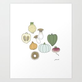 Vegetables (color) Art Print