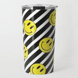 Smiley and Stripes Travel Mug