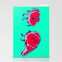 meat Stationery Cards featuring Meat meet Meat by didu didu