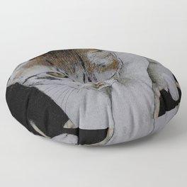 Focused cat Floor Pillow