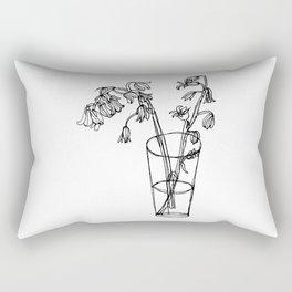 Bluebells Botanical Flower Illustration - Continuous Line Drawing - Floral Sketch Rectangular Pillow