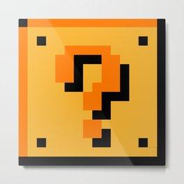 ?Question Mark block- Super Mario Bros. Metal Print
