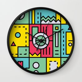 Play on words | Graphic jam Wall Clock