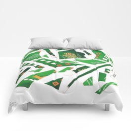 Carrousel collage Comforters