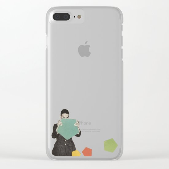Discovering New Shapes Clear iPhone Case