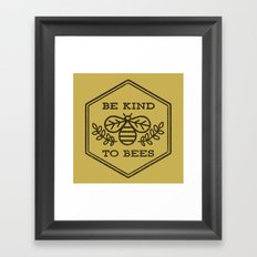 Be Kind To Bees Framed Art Print