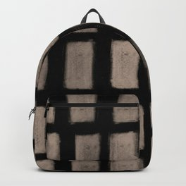 Brush Strokes Vertical Lines Nude on Black Backpack
