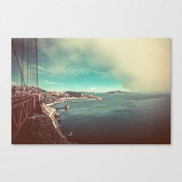 San Francisco Bay from Golden Gate Bridge Canvas Print