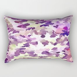 Foliage Abstract Pop Art In UltraViolet Purple and Lilac Rectangular Pillow