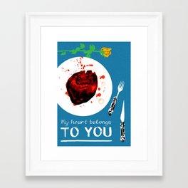 Bloody Valentine (My Heart Belongs To You) Framed Art Print