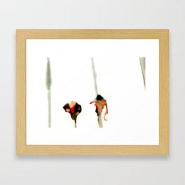 Winter Shadows Framed Art Print