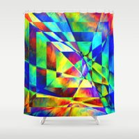 illusion Shower Curtains featuring Illusion. by Assiyam