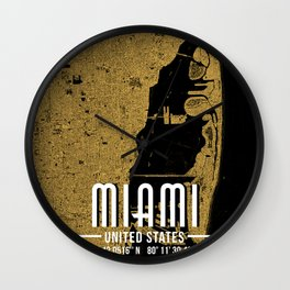 Miami United States Poster Wall Clock