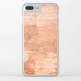 Burly wood hand-drawn aquarelle Clear iPhone Case