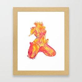 Trip Girl Framed Art Print